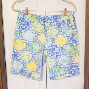 Lilly Pulitzer lemon & monkey shorts size 4